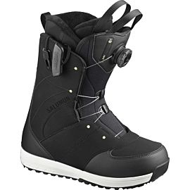 Salomon Ivy BOA SJ snowboardschoenen dames black black pale lime yellow