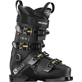 Salomon S Max 110 skischoenen dames black golden glow metallic belluga