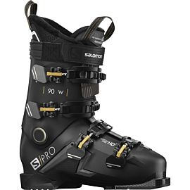 Salomon S Pro 90 skischoenen dames black belluga gold glow