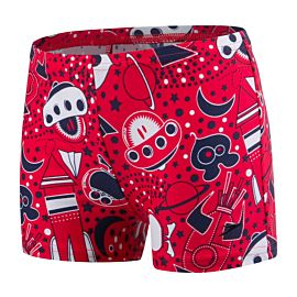 Speedo Essential Allover zwemboxer junior red navy