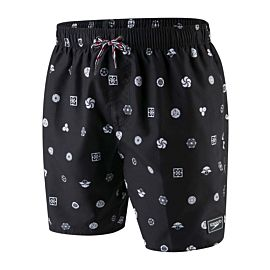 Speedo Printed Leisure zwembroek heren black white