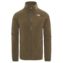 The North Face 100 Glacier fleece vest heren new taupe green