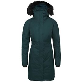 The North Face Arctic II parka outdoor jack dames ponderosa green