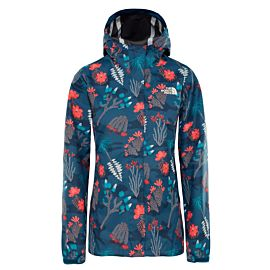 The North Face Print Venture outdoor jack dames blue wing teal joshua tree print