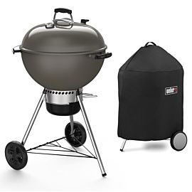 Weber Master-Touch GBS C-5750 57 houtskoolbarbecue smoke grey + gratis Premium barbecuehoes