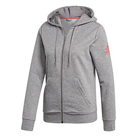 adidas Club Hoody trainingsjack dames core heather shock red