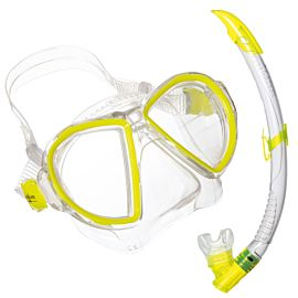 Aqua Lung Duetto LX + Airflex Purge LX snorkelset geel