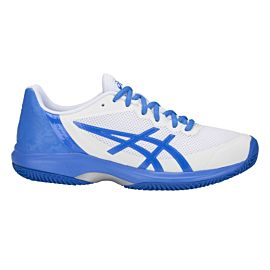 ASICS Gel-Court Speed Clay E851N tennisschoenen dames white illusion blue