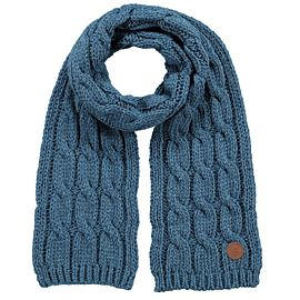 Barts JP Cable sjaal dusty blue
