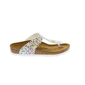 Birkenstock Gizeh slippers junior oriental mosaic white multi