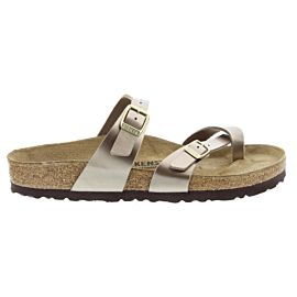 Birkenstock Mayari slippers dames electric metallic taupe