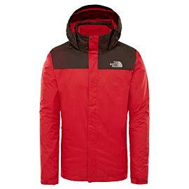 The North Face Evolve II Triclimate outdoor jack heren bittersweet brown rage red