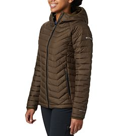 Columbia Powder Lite Hooded outdoor jack dames olive green