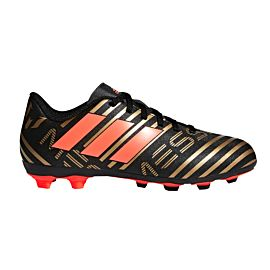 Adidas Nemeziz Messi 17.4 FxG CP9210 voetbalschoenen junior core black solar red tactile gold metallic