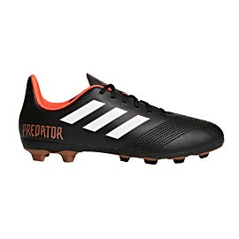 Adidas Predator 18.4 FxG CP9243 voetbalschoenen junior core black footwear white solar red