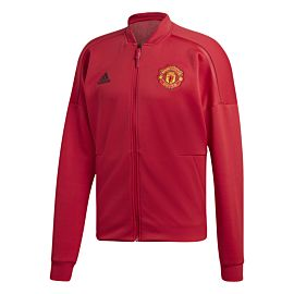 Adidas Manchester United Z.N.E. trainingsjack real red schuin