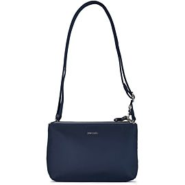 Pacsafe Stylesafe Double Zip Crossbody schoudertas navy
