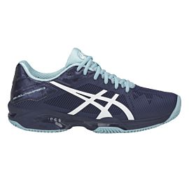 ASICS Gel-Solution Speed 3 Clay tennisschoenen dames indigo blue white porcelain blue