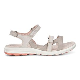 ECCO Cruise II sandalen dames silver grey gravel rose dust