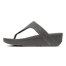 FitFlop Lottie Glitzy Toe-Post slippers dames pewter