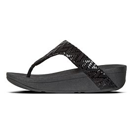 FitFlop Lottie Toe-Post slippers dames black