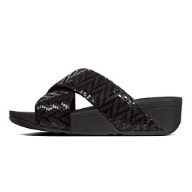 FitFlop Lulu Cross Slide slippers dames black