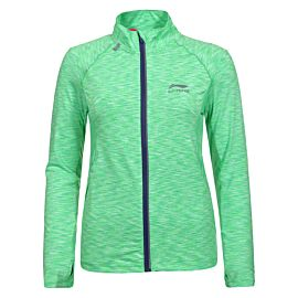 Li-Ning Flower midlayer trainingsjack dames green