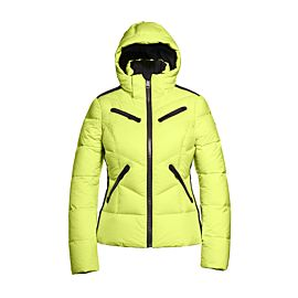 Goldbergh Alicia winterjas dames neon yellow