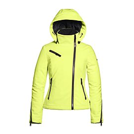 Goldbergh Euforia softshell winterjas dames neon yellow