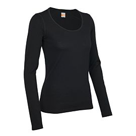 Icebreaker Oasis Long Sleeve Scoop shirt dames black