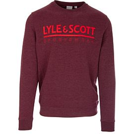 Lyle & Scott Fitness Logo trui new claret marl