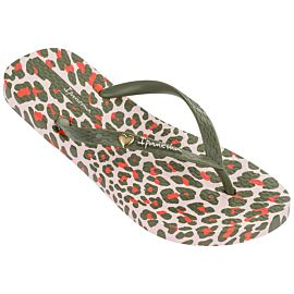 Ipanema Animal Print slippers dames beige green