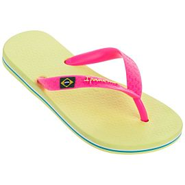 Ipanema Classic Brasil slippers junior yellow pink