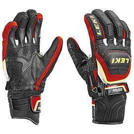 Leki Worldcup Race Coach Flex S GTX handschoenen black yellow red