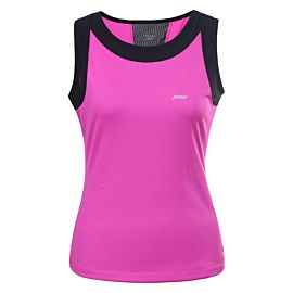 Li-Ning Kai Tops fitness tanktop dames hot pink