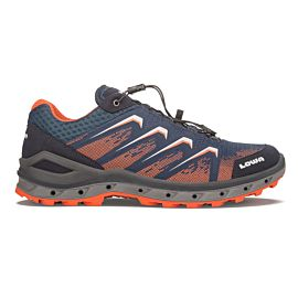 Lowa Aerox GTX Lo 310626 wandelschoenen heren navy orange