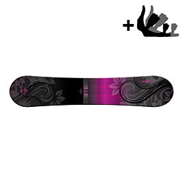 Morrow Sky snowboard dames black purple incl. Sky binding