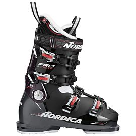 Nordica Pro Machine 95 skischoenen dames black wine bordeaux