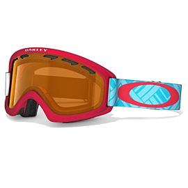 Oakley O2 XS skibril junior braided blue red