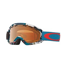Oakley O2 XS skibril junior shady trees blue red