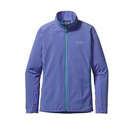 Patagonia Adze Hybrid softshell outdoor jack dames violet blue