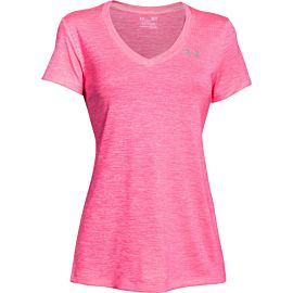 Under Armour UA Tech Twist shirt dames Mojo Pink