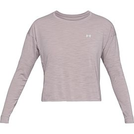 Under Armour UA Whisperlight Cropped Cover up shirt dames gray