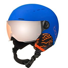 Quiz Visor skihelm junior matte royal blue