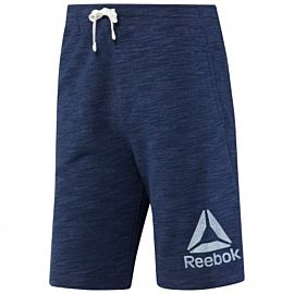 Reebok Elements Prime Marble Short fitness heren collegiate navy