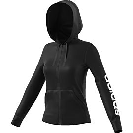 Adidas Essentials Linear Full Zip Hoodie vest dames black