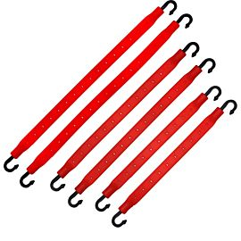 StrapGear allesbinder 6 pack Red