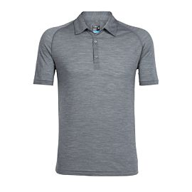 Icebreaker Sphere Short Sleeve polo heren gritstone heather