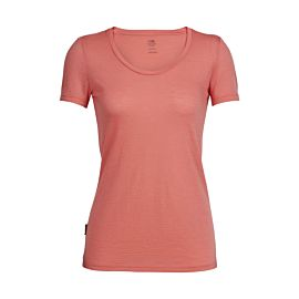 Icebreaker Tech Lite Short Sleeve Scoop shirt dames tulip