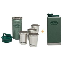 Stanley Stainless Steel Shot Glass met Flask gift set
